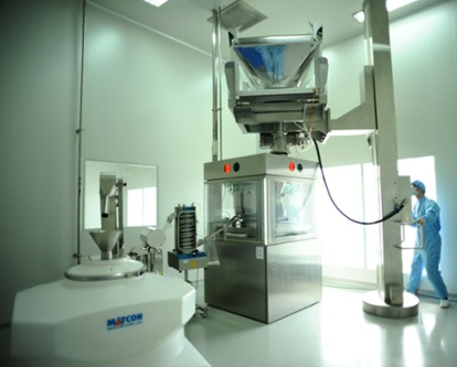 IBC in use in building design of pharmaceutical manufacturing plant