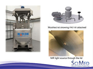 NIR technology in lid of IBC for Matcon allergen day