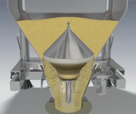 Cone Valve discharging