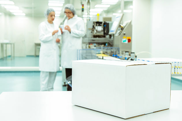 Single floor pharmaceutical facility