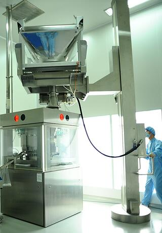 Ceiling height limitations in a Pharmaceutical facility e.g. installing a pillar-lift
