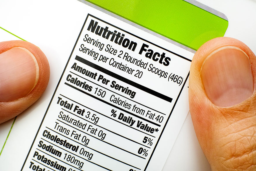 nutritional information and labelling for a sports nutrition manufacturer