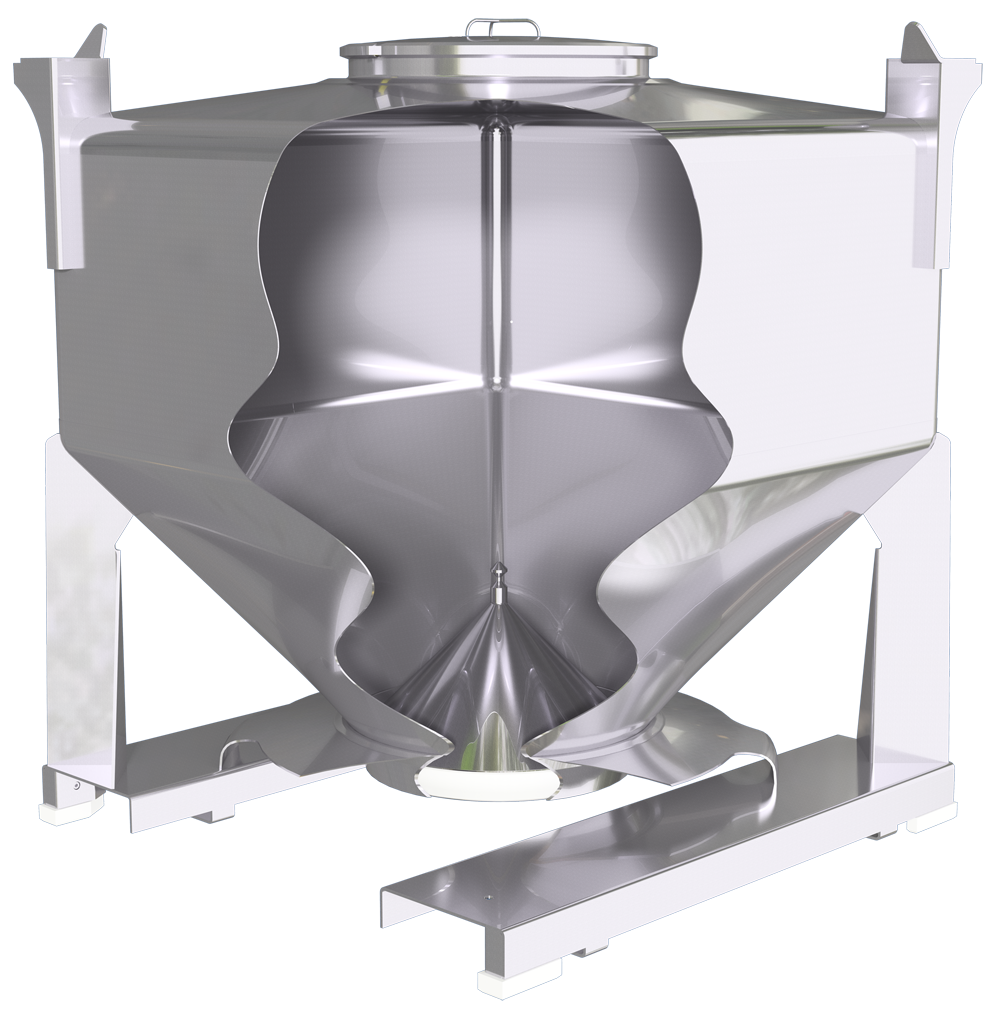 1000L S-Series IBC used in the manufacture of sports nutrition products