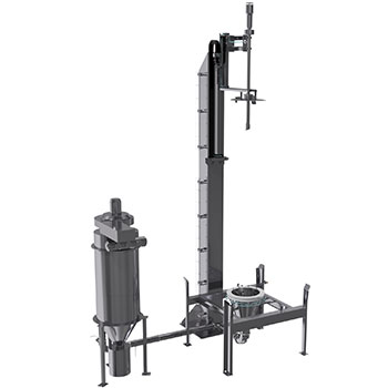 Air washing module for cleaning ibcs